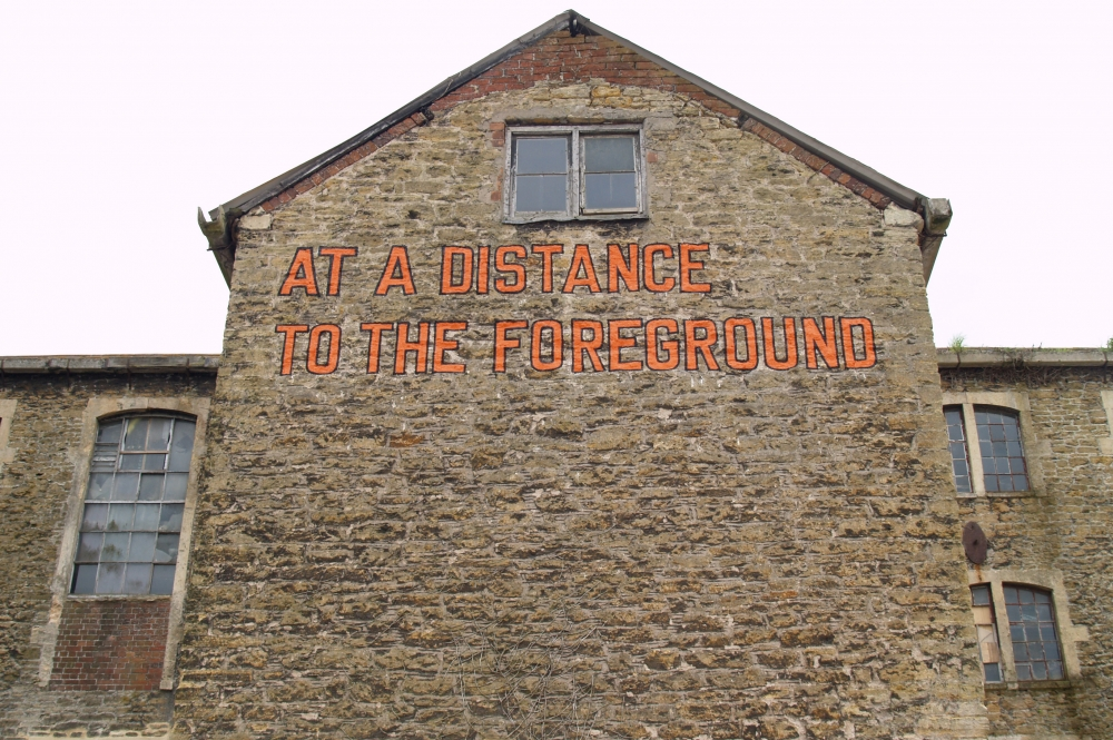 Lawrence Weiner. AT A DISTANCE TO THE FOREGROUND, 2008